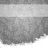 Elegant Happy Holidays during winter card Stock Image