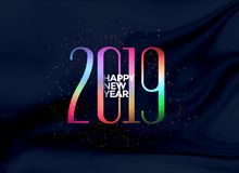 Elegant 2019 happy new year colorful background. Vector vector illustration