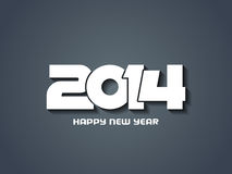 Elegant happy new year 2014 design. Royalty Free Stock Images