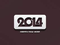 Elegant happy new year 2014 design. Vector illustration Stock Image