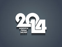Elegant happy new year 2014 design. Vector illustration Royalty Free Stock Photo