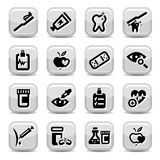 Health icons Stock Images