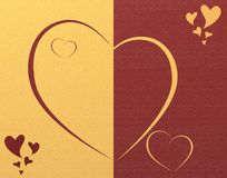 Elegant heart background. Elegant two colors background with hearts stock illustration