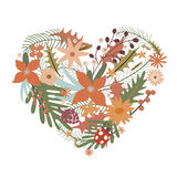 Elegant heart from flowers Royalty Free Stock Photography