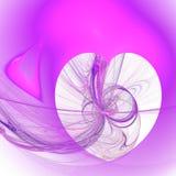 Elegant heart fractal background. Elegant pink heart fractal background stock illustration