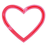 Elegant Heart icon for Valentine`s day on a white background Royalty Free Stock Images