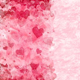 Elegant hearts background Stock Images