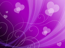 Elegant Hearts Background Means Delicate Passion Or Fine Wedding Stock Image