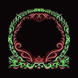Elegant helder multi-colored rond kader, geschilderde lijnen met swi royalty-vrije illustratie