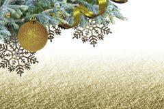 Elegant het ontwerpmalplaatje van de Kerstmisgrens Stock Afbeelding