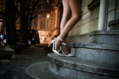 Elegant high heel shoes Stock Photo