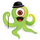 Elegant hipster octopus monster Royalty Free Stock Photo