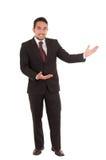 Elegant hispanic man in a suit Stock Images