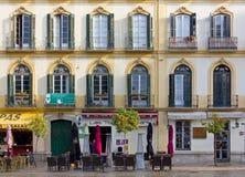Elegant Historic Building in Malaga stock image