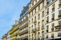 Elegant historic Parisian Apartment Buildings Stock Photo