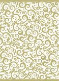 Elegant holiday background. Elegant gold and white Christmas, New Year or other holiday background with swirly floral pattern vector illustration