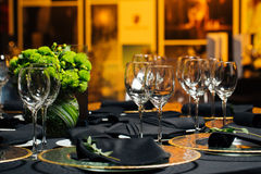 Elegant holiday table, catering, creative approach to the event. Creative approach to the event Royalty Free Stock Image