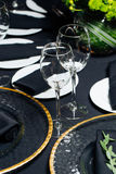 Elegant holiday table, catering, creative approach to the event. Creative approach to the event Stock Photos