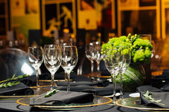 Elegant holiday table, catering, creative approach to the event. Creative approach to the event Stock Photo