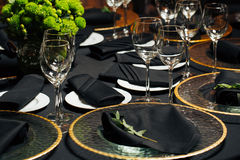 Elegant holiday table, catering, creative approach to the event Royalty Free Stock Images