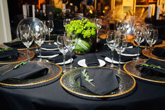 Elegant holiday table, catering, creative approach to the event Stock Image