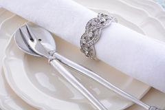 Elegant holiday Table Place Setting. Royalty Free Stock Photo