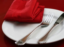 Elegant Holiday Table Setting Stock Photography
