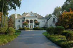 Elegant Home. A large elegant home in the suburbs in the northeastern part of the United States Royalty Free Stock Photography