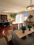 Elegant home: Living room with dining area Royalty Free Stock Photo