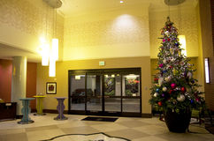 Elegant hotel Christmas light Royalty Free Stock Image