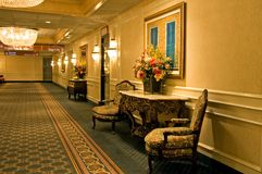 Elegant hotel hallway Royalty Free Stock Image