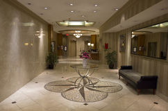 Elegant hotel lobby Royalty Free Stock Photography