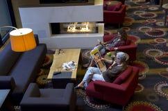 Elegant hotel lobby Stock Photography