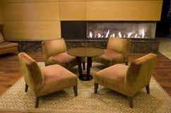Elegant hotel lobby stock photos