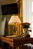 Elegant hotel suite desk stock photo