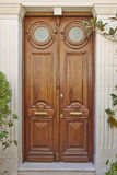 Elegant house double ox eye door Royalty Free Stock Photography