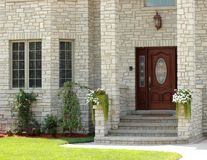 Elegant house entrance 3. Elegant home entrance in urban setting Stock Photos