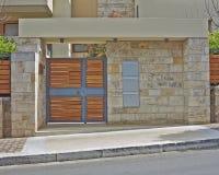 Elegant house entrance, Athens Greece Stock Image
