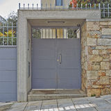 Elegant house entrance, Athens Greece Stock Photo