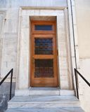 Elegant house entrance with wooden door, Athens  Greece Stock Images