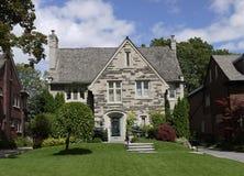 Elegant house with stone gable Stock Photos