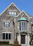 Elegant house with stone gable Royalty Free Stock Images