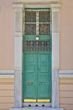Elegant house tall door, Athens Greece Royalty Free Stock Photos