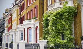 Elegant Houses at London. Typical Apartments Building at West-London royalty free stock images