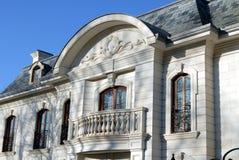 Elegant huis met balkon Stock Afbeelding