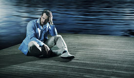 Elegant husband thinking about the future Stock Images