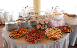 Elegant Huwelijk om dinerlijst Stock Fotografie