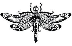 Elegant illustration of Dragonfly. Elegant Vector illustration of Dragonfly. Poster, t-shirt design. Coloring book for kids and adults royalty free illustration