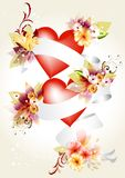 Elegant illustration  with hearts Royalty Free Stock Photography