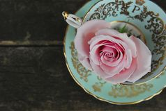 Tea Cups and Roses royalty free stock photos